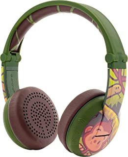 ONANOFF BuddyPhones WAVE, Waterproof Wireless Bluetooth Volume-Limiting Kids Headphones, 20-Hour Battery Life, 4 Volume Settings of 75, 85, 94db and StudyMode, Includes Backup Cable for Sharing, Green
