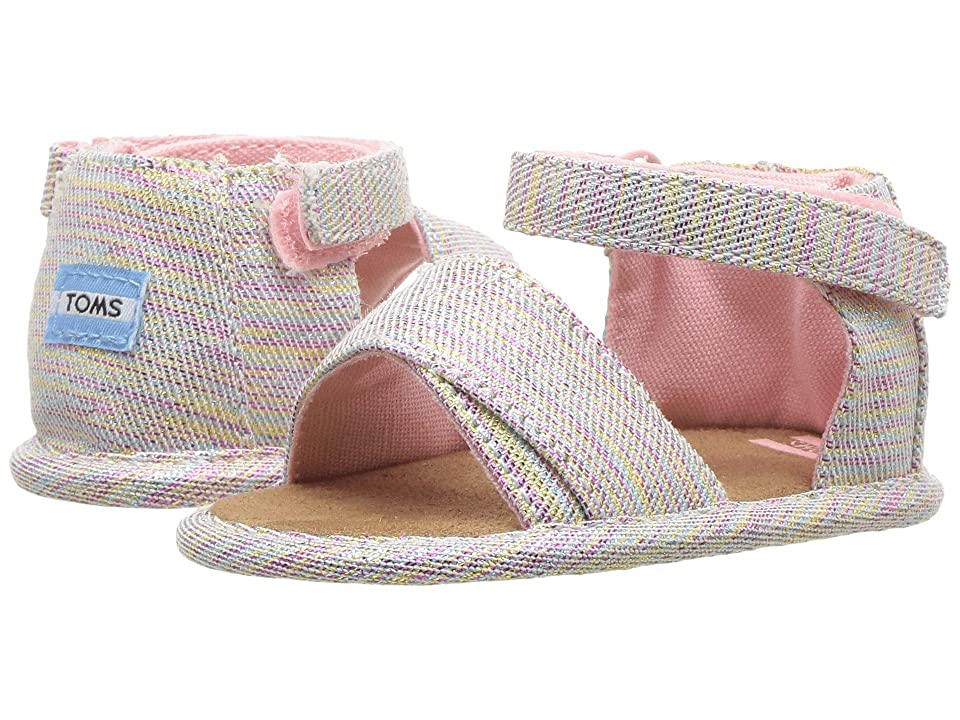 TOMS Kids Shiloh (Infant/Toddler) (Pink Multi Twill Glimmer) Girl