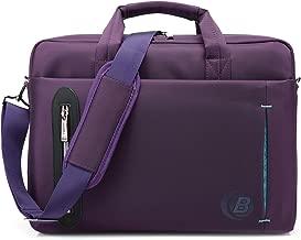 CoolBELL 17.3 inch Laptop Bag Messenger Bag Hand Bag Multi-compartment Briefcase Waterproof Nylon Shoulder Bag For Laptop/Ultrabook/HP/Macbook/Asus/Lenovo/Men/Women/Business (Purple)