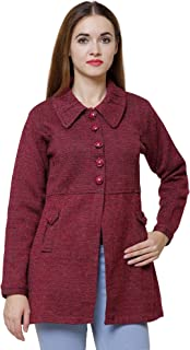 Matelco Women's Wool Collared Neck Cardigan