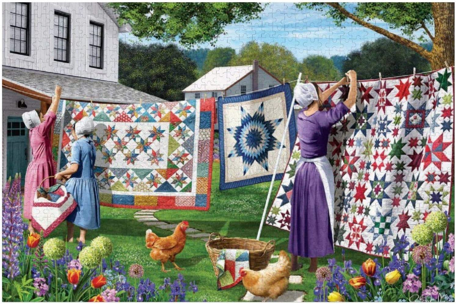 Ranking TOP20 1000 Piece Wooden Jigsaw Puzzle Quilts Backyard The Large Ranking TOP11 in Puz