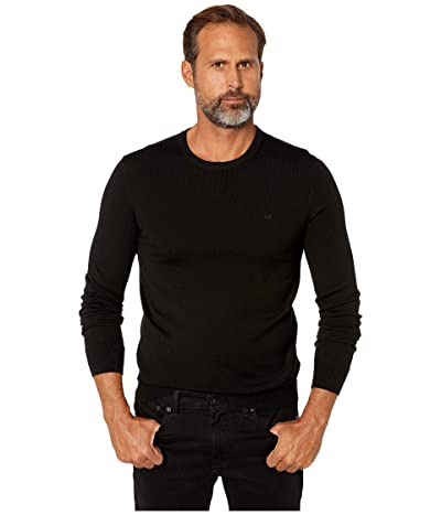 Calvin Klein Merino Crew Neck Sweater (Black) Men