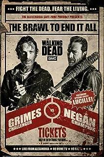 IFUNEW Impression d'art The Walking Dead Rick VS Negan Fight Impression d'art Décoration Murale pour la Maison 60x90cm