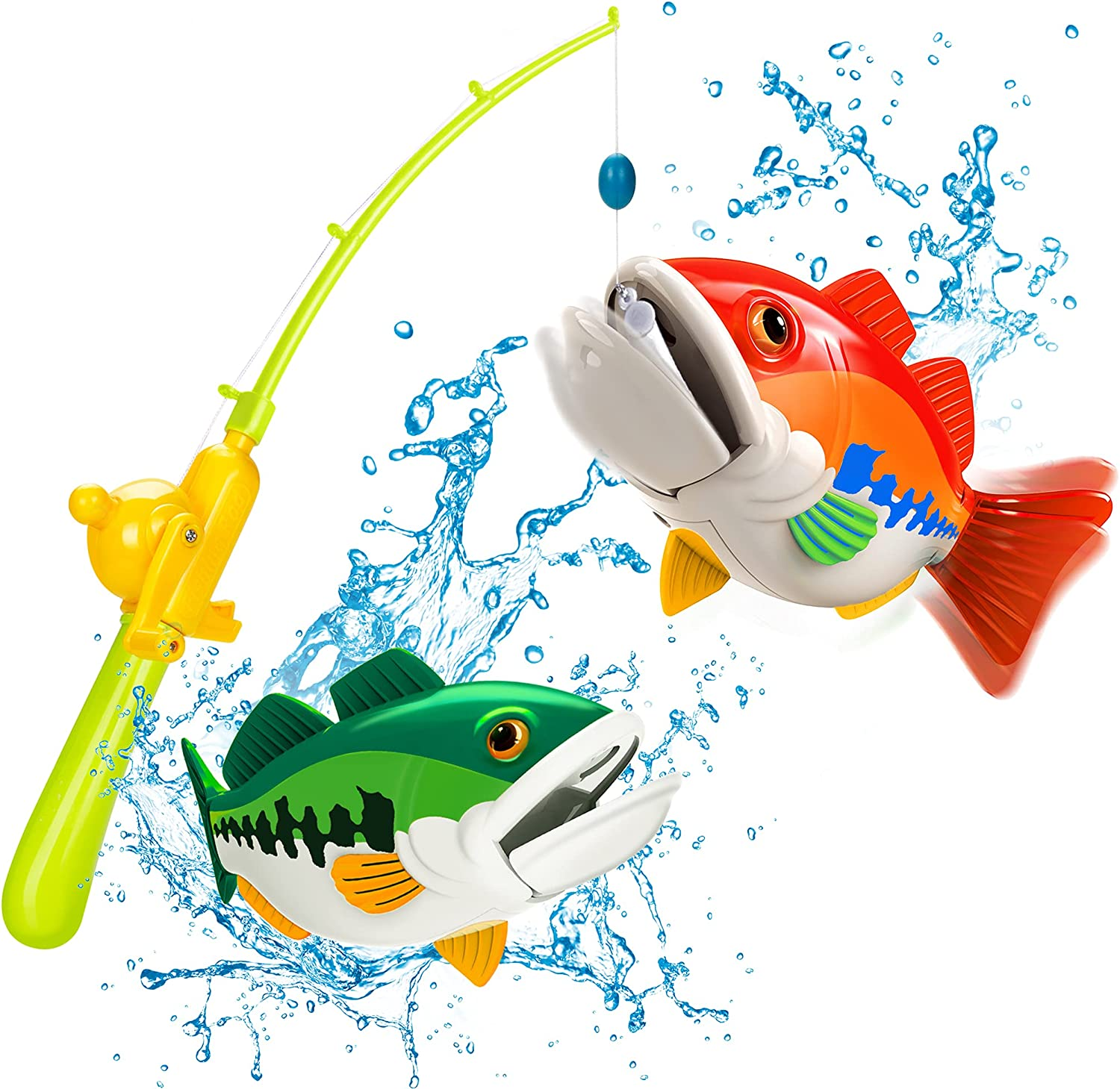 zoolb Pool Fishing Game Toy for Kids and Toddlers,Electric Floating Fish...