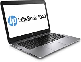 HP EliteBook Folio 1040 G2 14in Laptop Intel Core i5 5300U 2.30GHz 8GB Ram 256GB SSD Windows 10 Pro(Certifed )(Renewed)