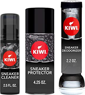 KIWI Sneaker Care Kit - Cleans Shoes, Repels Stains and Removes Odors. 3-Step Sneaker Care System (1 Pack)