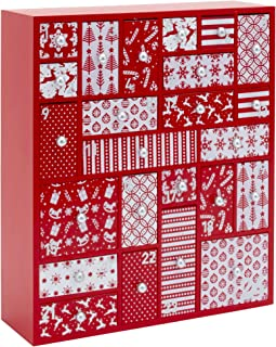 HYGGEHAUS Wooden Advent Calendar with Drawers - Large Christmas Countdown Calendar 2019 for Kids, Adults | Original Design Christmas Keepsake and Christmas Tradition Decor | 12.5in x 14.5in x 4in