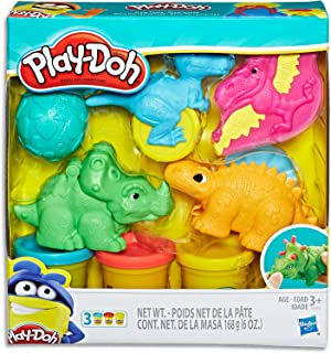 Play-Doh - Dino Tools Playset - inc 3 Tubs of Dough & Acc - Creativity Toys - Ages 3+