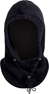 4-in-1 Gaiter, Hood, Balaclava Face Mask, Neck Warmer with Insulated Fleece