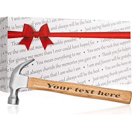 10 oz Ash Handle Ripping Hammer Custom Printed Hammer Christmas Birthday Wedding Dad Grand Father Brother