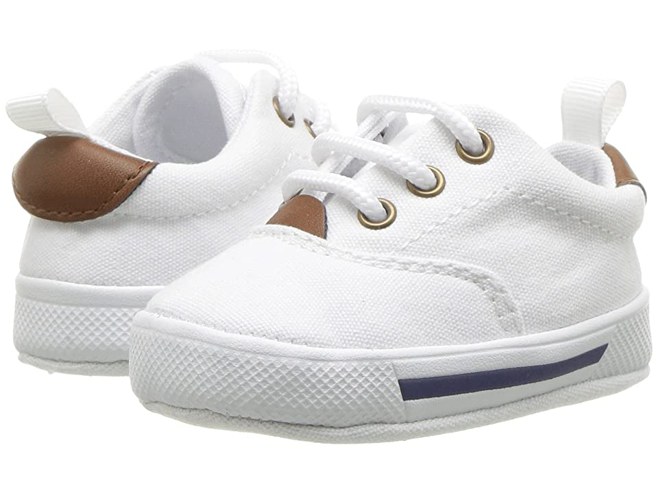 Baby Deer Soft Sole Lace-Up Sneaker (Infant) (White) Kid
