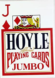 Hoyle Jumbo Index Playing Cards 1202, Red Back