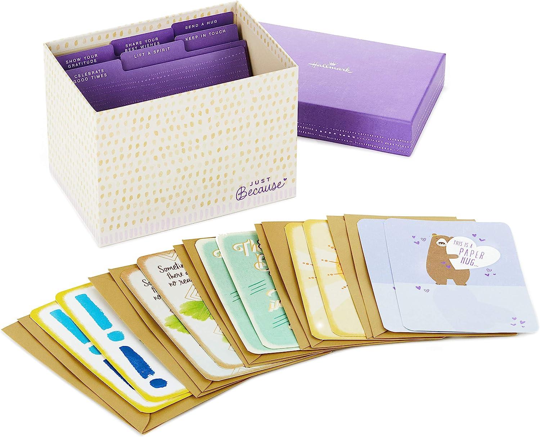 Hallmark Just Washington Mall Cheap bargain Because Cards Assortment Card with Organizer Box