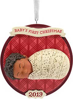 Hallmark Christmas Ornaments 2019 Year Dated, Hallmark Mahogany Baby's First Christmas Ornament
