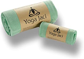 Yoga Mat Towel and Hand Towel as a Combo Set - Nonslip and Anti Slip - Mat Size Length - Lightweight - Perfect for Travel ...