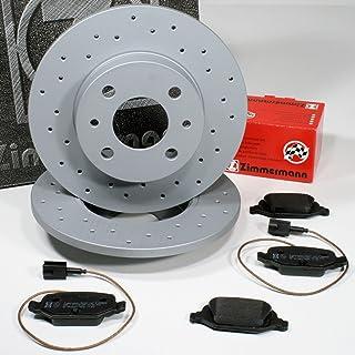 Zimmermann Sport Bremsscheiben gelocht 240,5 mm Coat Z Bremsen + Bremsbeläge für hinten/die Hinterachse