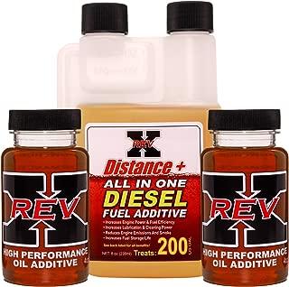 REV-X Diesel Oil Additive & Fuel Kit - 4 oz Oil Treatment (2) + 8 oz Diesel Fuel System Cleaner