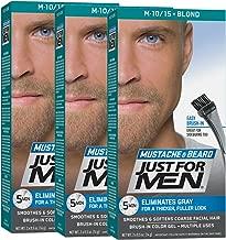 Just For Men Mustache & Beard Color, Beard Coloring for Men, Blond (Pack of 3)