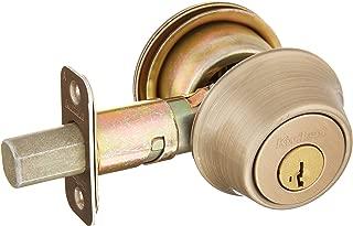 Kwikset 660 Single Cylinder Deadbolt featuring SmartKey in Antique Brass