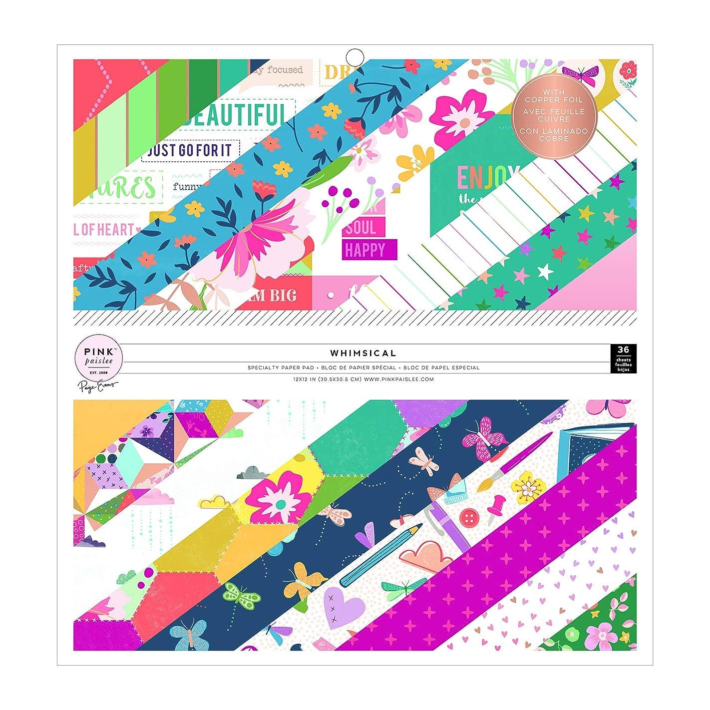 Paige Evans 310714 Paper Pad, 12-x-12-Inch, Multi b24124216878