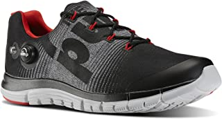 5268ff224 Reebok Mens Zpump Fusion LE Running Shoe Black Flat Grey Steel Red Rush