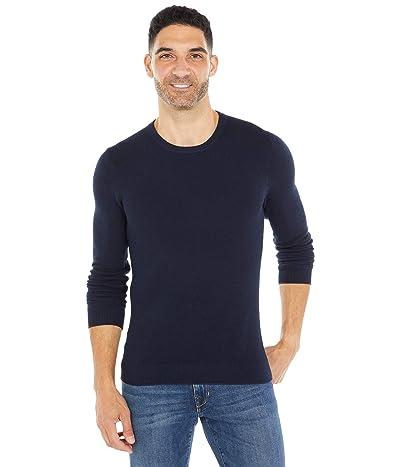 Michael Kors Mix Stitch Crew Neck Sweater (Dark Midnight) Men
