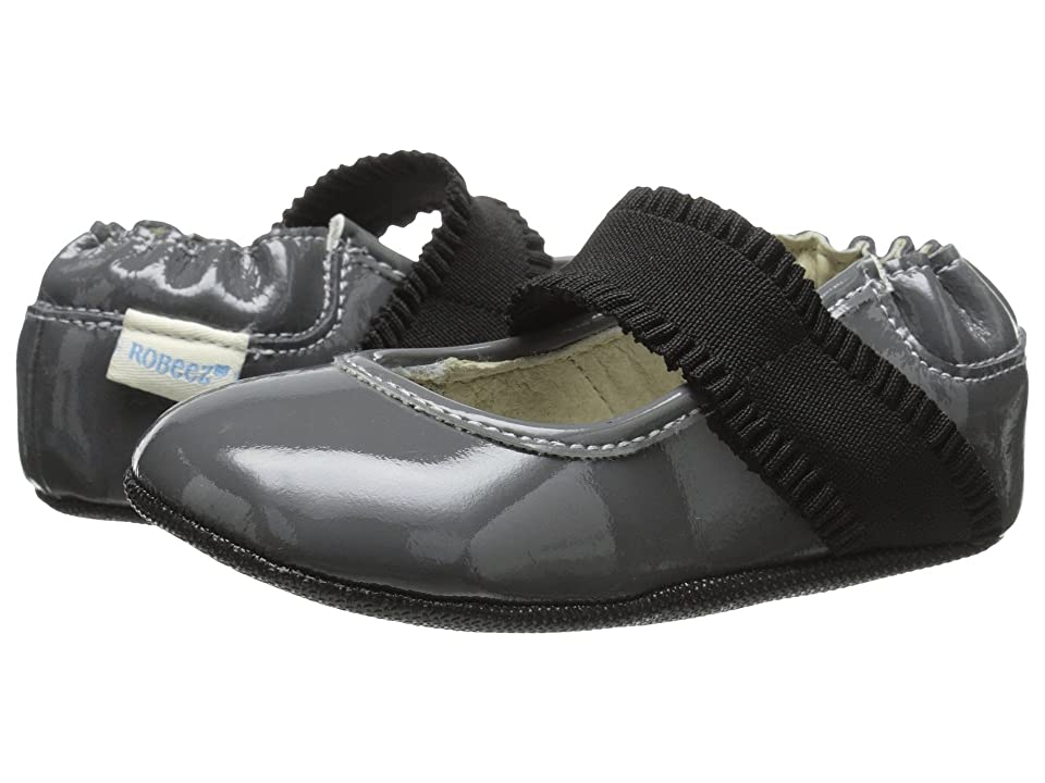 Robeez Annie Mini Shoez (Infant/Toddler) (Cool Grey) Girls Shoes