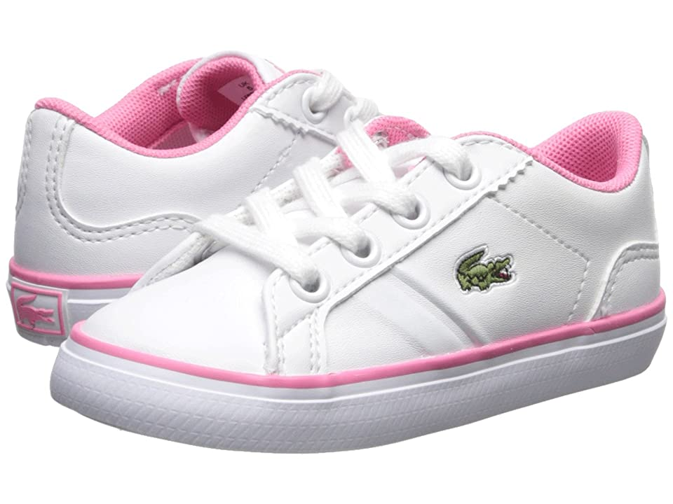 Lacoste Kids Lerond (Toddler/Little Kid) (White/Pink) Kid