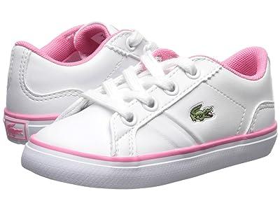 Lacoste Kids Lerond (Toddler/Little Kid) (White/Pink) Kid
