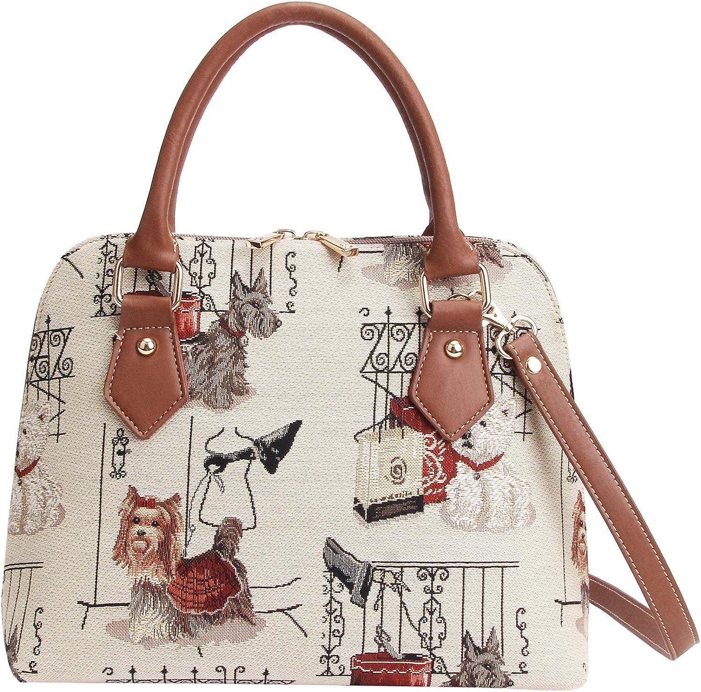 Signare Financial sales sale Tapestry Handbag Satchel Bag Shoulder bag OFFicial Crossbody and
