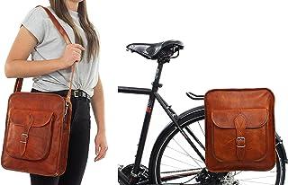 Sacoche Sac KLICKFIX Sac à bandoulière enseignants Sac Sacoche de vélo en cuir marron