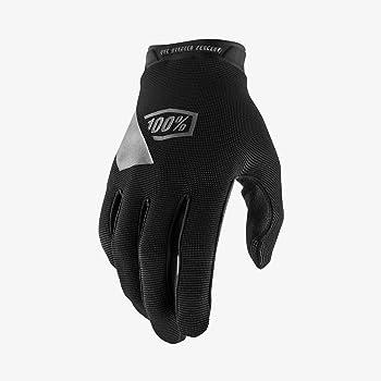 100% RIDECAMP Motocross & Mountain Bike Gloves (MD - BLACK) MTB & MX Racing Protective Gear - Medium