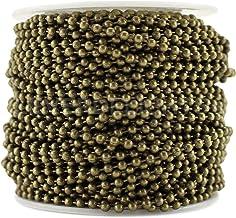 CleverDelights Ball Chain Spool - 100 Voeten - Antieke Bronzen Kleur - 2.4mm Bal - #3 Grootte - Bulk Roll
