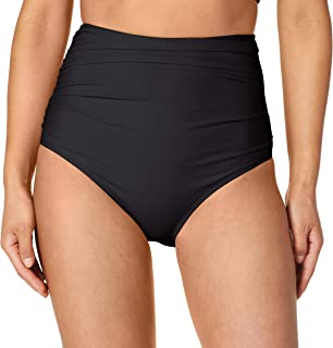 Ocean Blues Women's High Waisted Ruched Bikini Bottom
