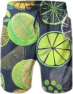 Bernice Winifred Lemon Summer Men Summer Surfing Shorts de baño de Secado rápido Pantalones de Playa con Bolsillo