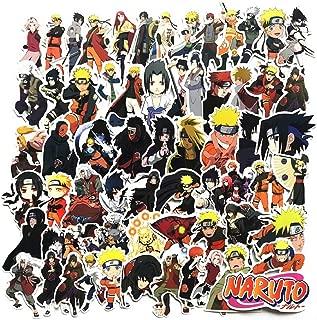 Sticker 63Pcs/lot Japan Anime Naruto Sasuke Cartoon for Snowboard Laptop Luggage Fridge Car- Styling Vinyl Decal Home Decor