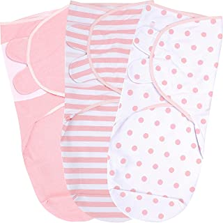 Baby Swaddle Blanket, Swaddle Wrap for Newborn and Infant, Adjustable Swaddle Set for Baby Boy and Girl, 3 Pack Soft Organ...