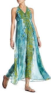 Unattainable Open-Front Halter Maxi Dress