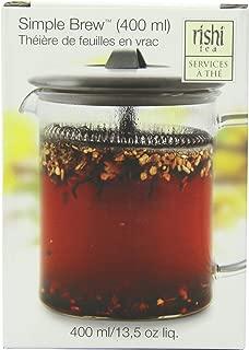 Rishi Tea Simple Brew Loose Leaf Teapot, 13.5 Fl Oz