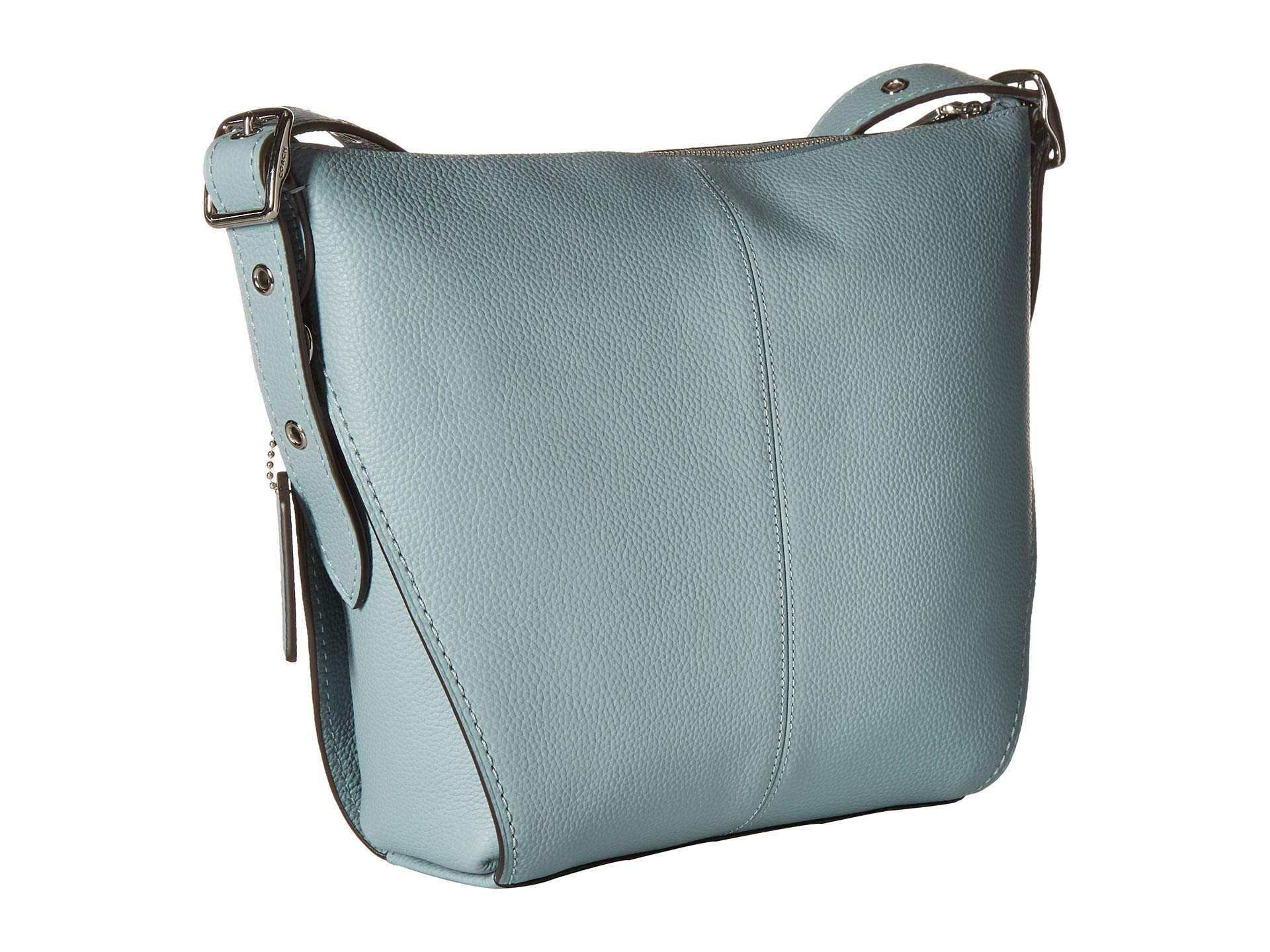 Leather Calf sage Natural Silver In Small Dufflette Coach wqpRX8W