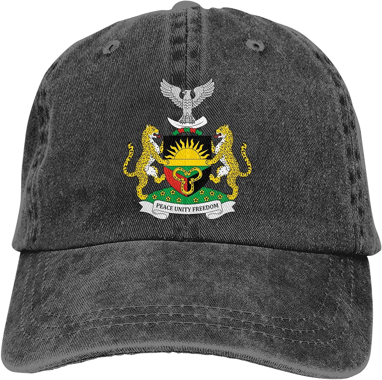 Inspier White Coat of Arms of Biafra Adjustable Unisex Black Baseball Caps Denim Hats Cowboy Sport Outdoor