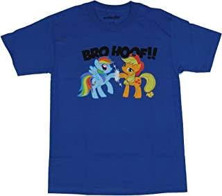 Friendship Is Magic Rainbow Dash And Applejack Bro Hoof - Camiseta para adultos, color azul