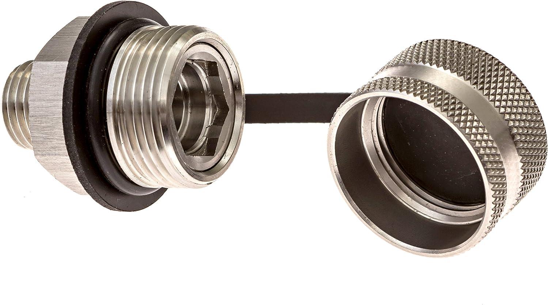 Plastic Drain Hose Attachment Fast Drain No Tools ValvoMax Stainless Oil Drain Valve for M20-1.50 No Mess
