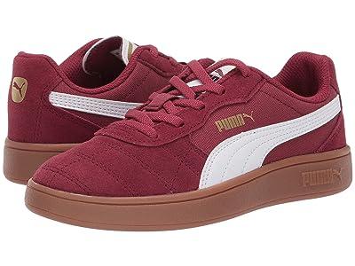 Puma Kids Astro Kick Slip-On (Little Kid) (Cordovan/Puma White/Puma Team Gold) Kids Shoes
