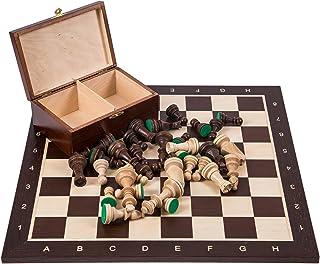 Profesional Ajedrez de madera Nº 6 SQUARE - WENGE - Tablero de ajedrez + Figuras - Staunton 6