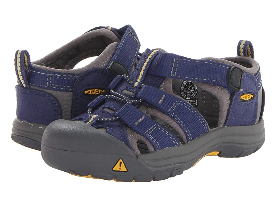 Keen Kids Newport H2 (Toddler) (Blue Depths/Gargoyle (Prior Season)) Kids Shoes