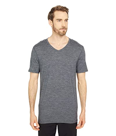 Smartwool Everyday Exploration Merino V-Neck Tee (Medium Gray Heather) Men