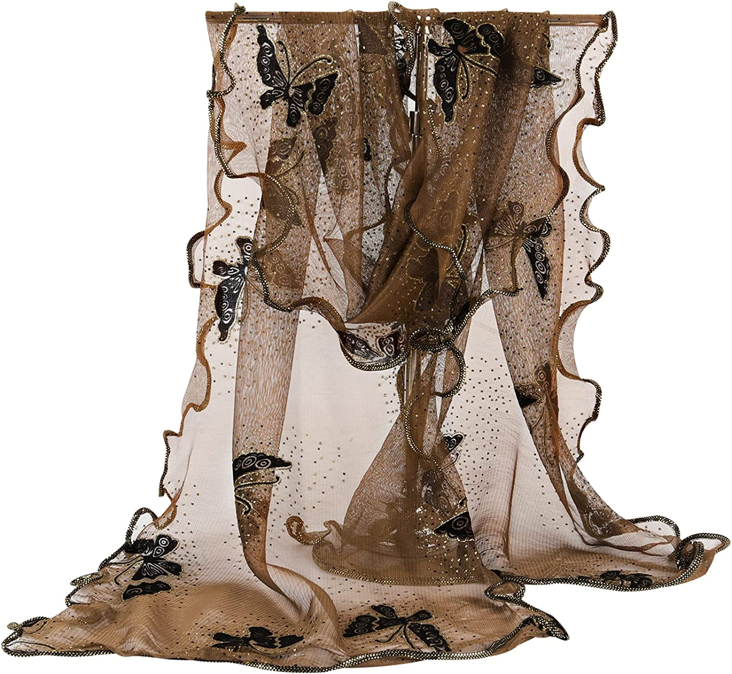 GERINLY Women Scarves Cute Butterflies Max 72% OFF Chiffon Sheer Soft Oakland Mall Scarf