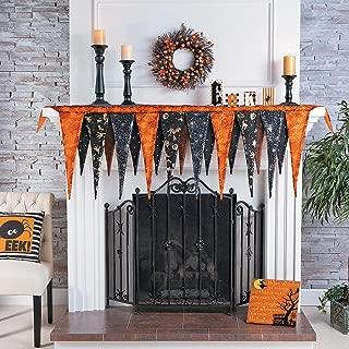 Fun Express Halloween Fireplace Mantel Scarf (Over 6 feet Long) Halloween Home Decor