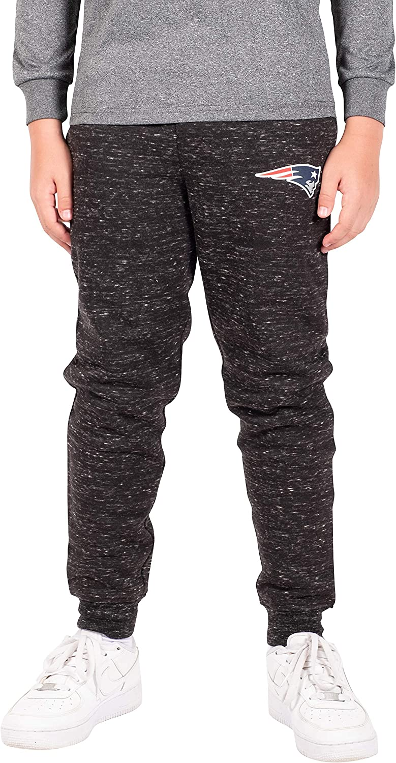 Ultra Game Boys' Purchase NFL Black Jogger Fleece Snow Sweatpants Shipping included
